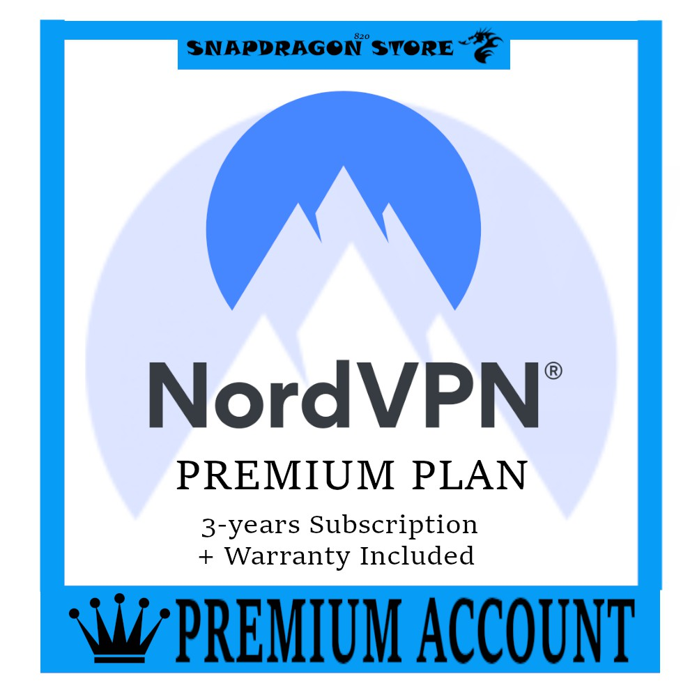 Nord VPN Account NordVPN PREMIUM Up to 3 YEAR subscription 1 YEAR WARRANTY