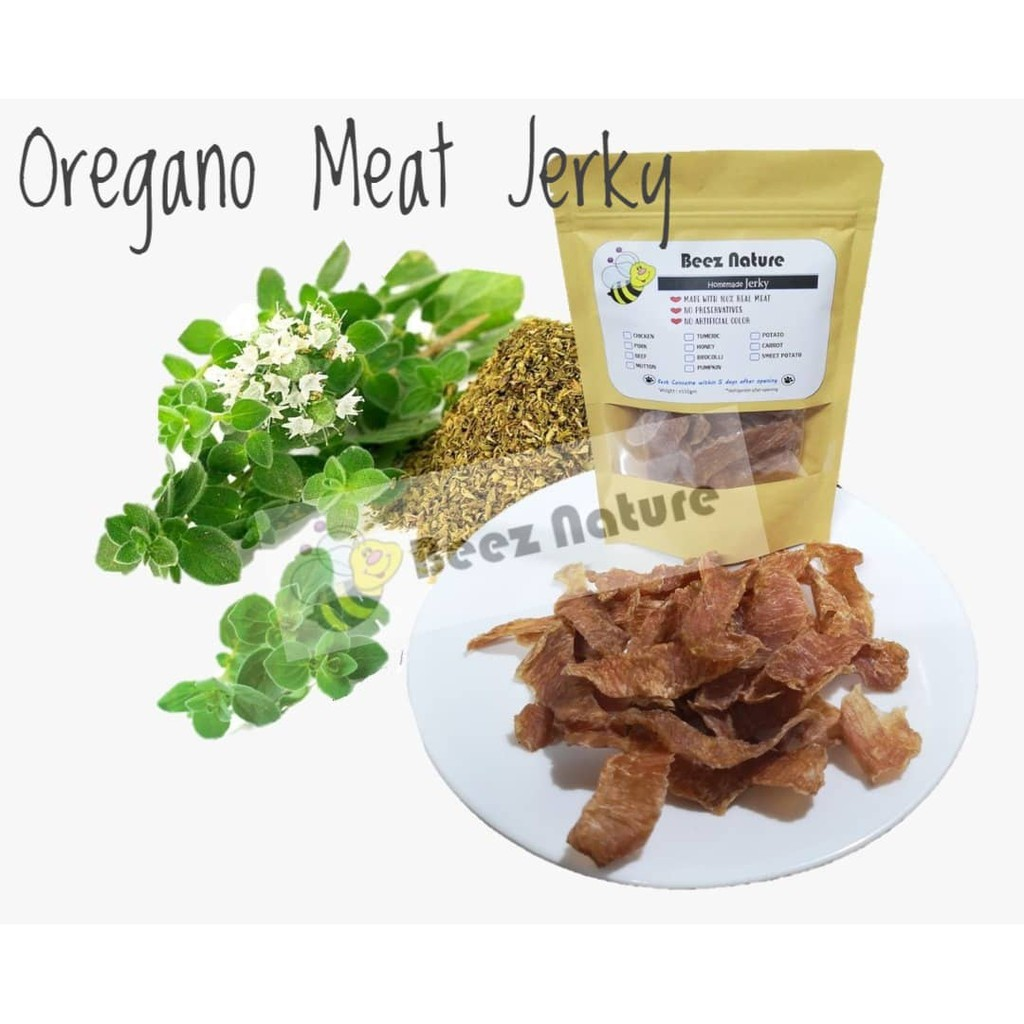 [NEW] Homemade Natural Jerky with OREGANO 80gm [Made to order]