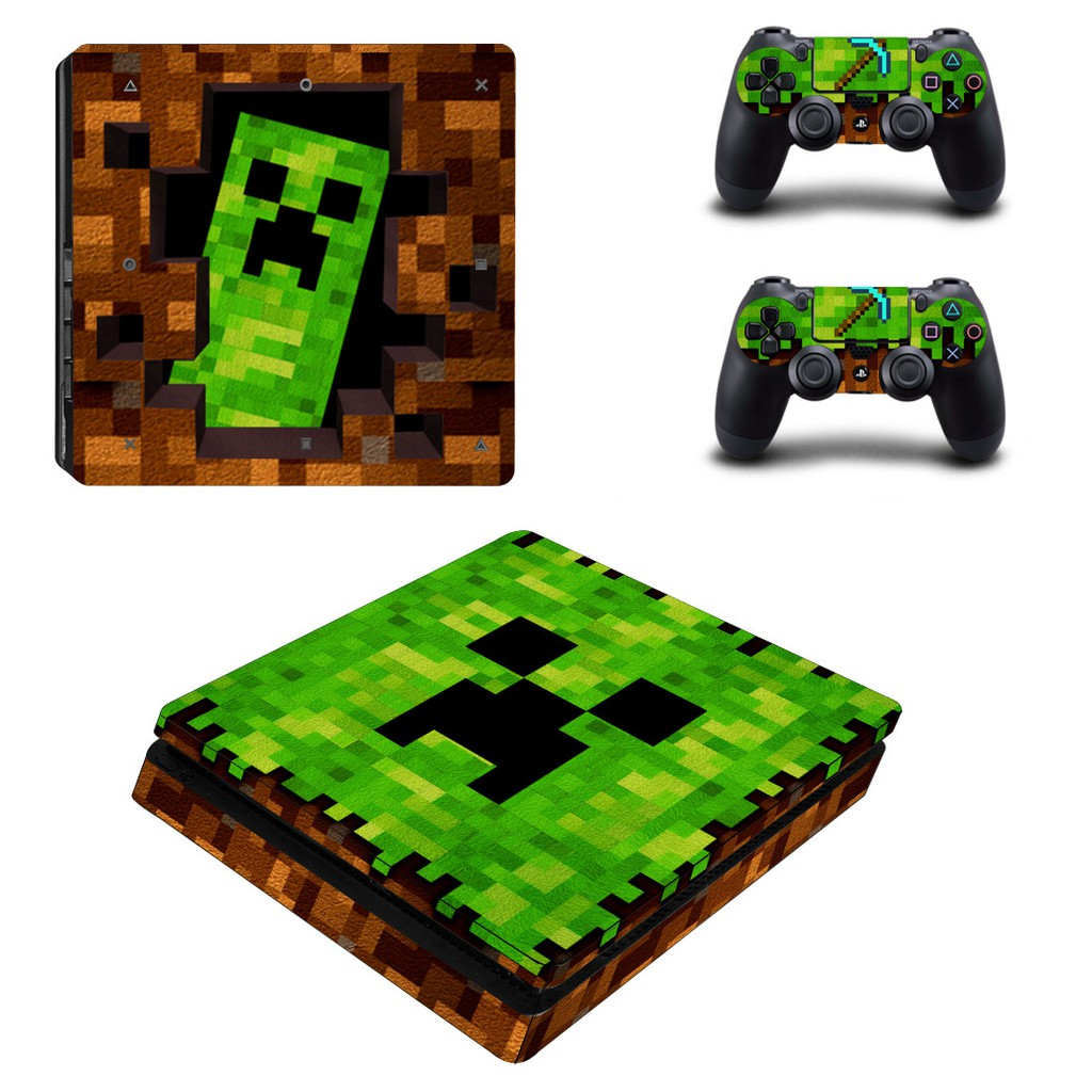 Game Minecraft Ps4 Slim Skin Sticker For Playstation 4 Console And Controllers Decal Ps4 Slim Skin Sticker Vinyl