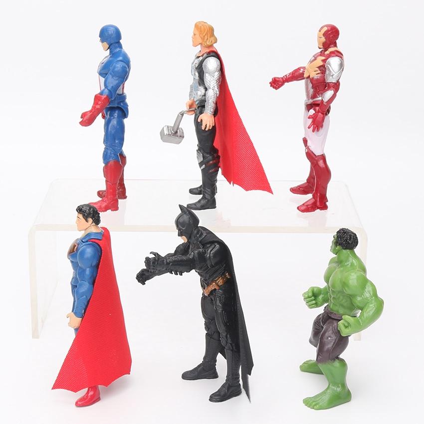 The Avengers Figure Set Superhero Batman Thor Hulk Captain America Action Figure