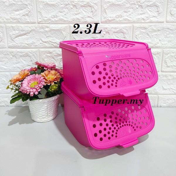 *1pc/2pcs*Tupperware Garlic N All Keeper 2.3L Pink Multipurpose keeper