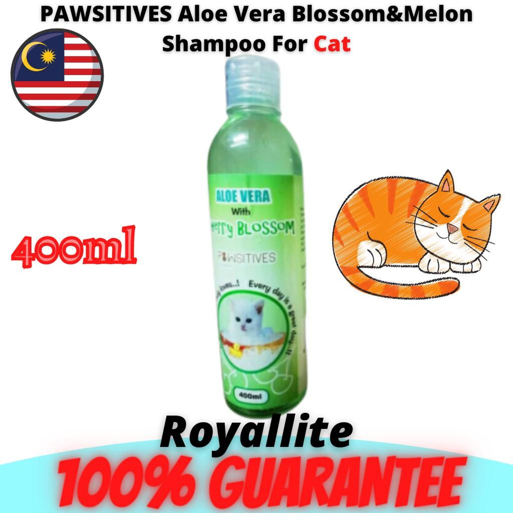 PAWSITIVES Cat Shampoo With Aloe Vera Fruity Melon Shampoo Kucing (400ML)【Ready Stock】
