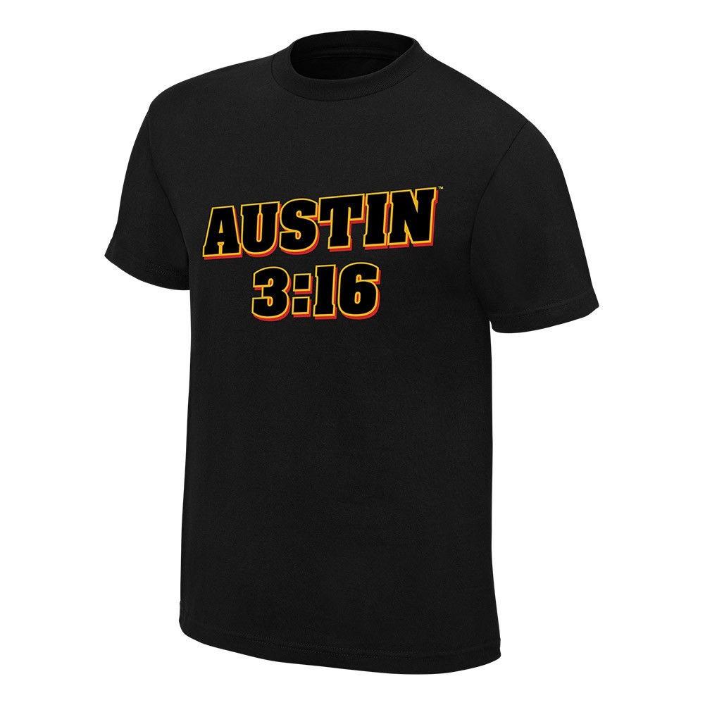 WWE Stone Cold Steve Austin 3:16 Retro T-Shirt Black 3XL