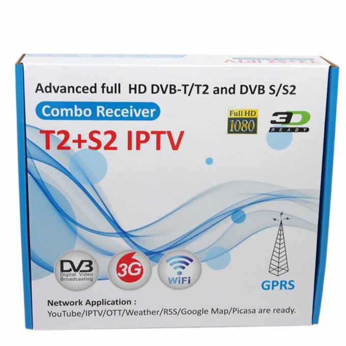IPTV Satellite TV Receiver Support Wifi Biss Key 1080P HD