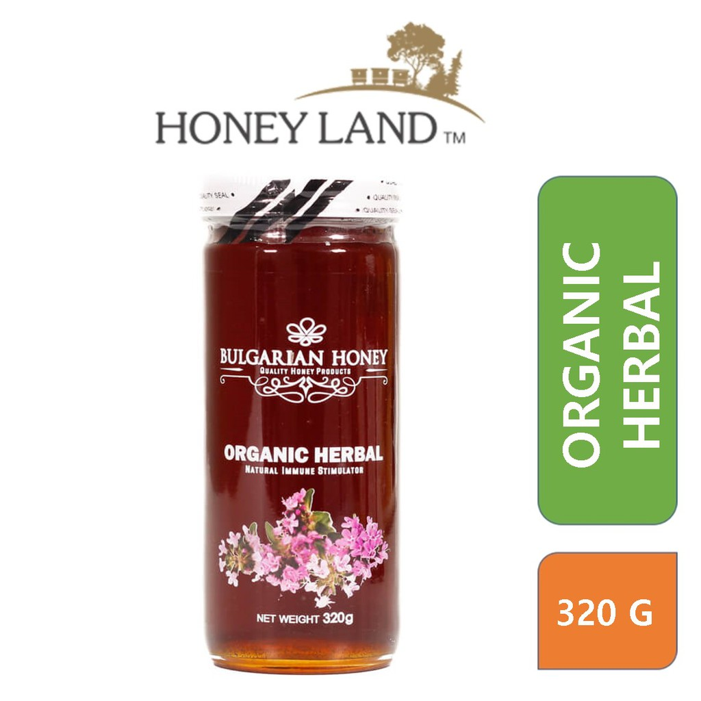 Bulgarian Honey – Organic Herbal Honey (320g) 100 Madu Asli Organik