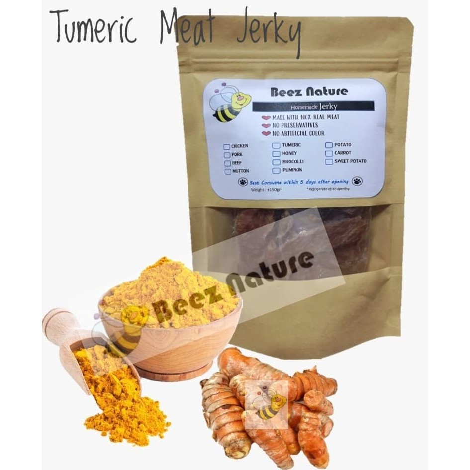 HomeMade Turmeric Meat Jerky [Made to Order] 80gm