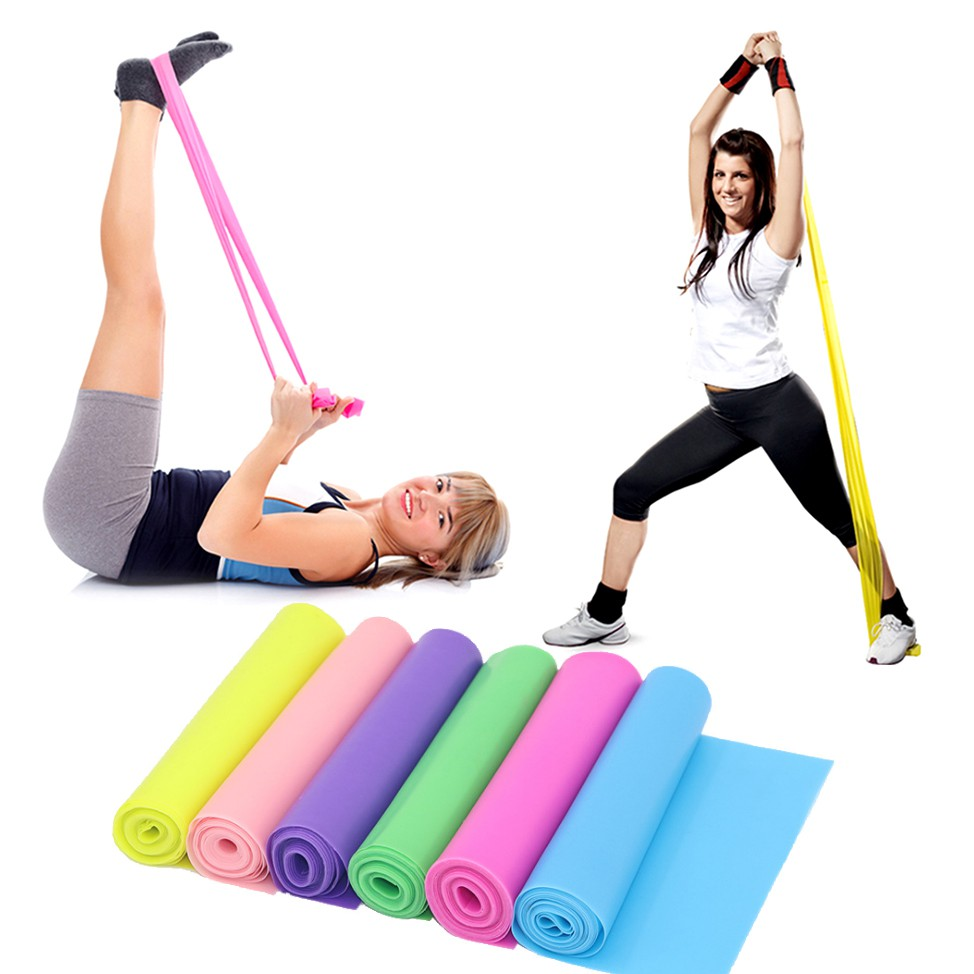Resistance Band Yoga Pilates Fitness Elastic Bands 150cm Training Rubber Loops