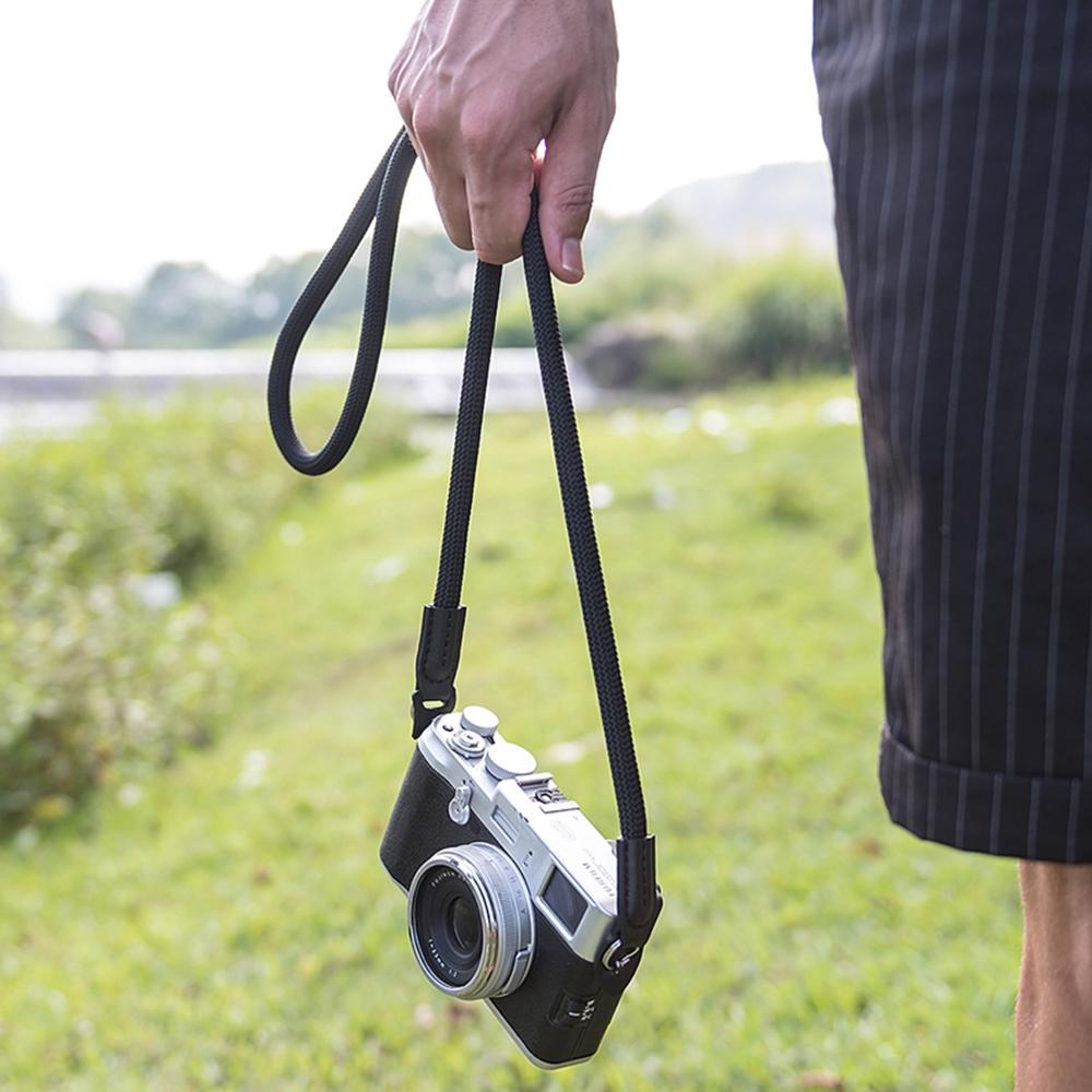 Camera Belt Accessory Camera Straps Camera Nylon Rope Camera Neck Strap for Mirrorless Digital Camera Durable Color : Black