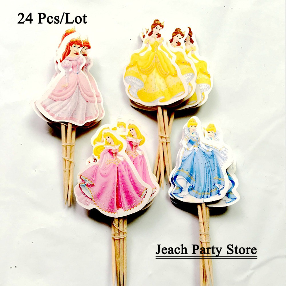 Awe Inspiring Girl Party Decoration For Birthday Topper Cake Flags Cake Funny Birthday Cards Online Overcheapnameinfo