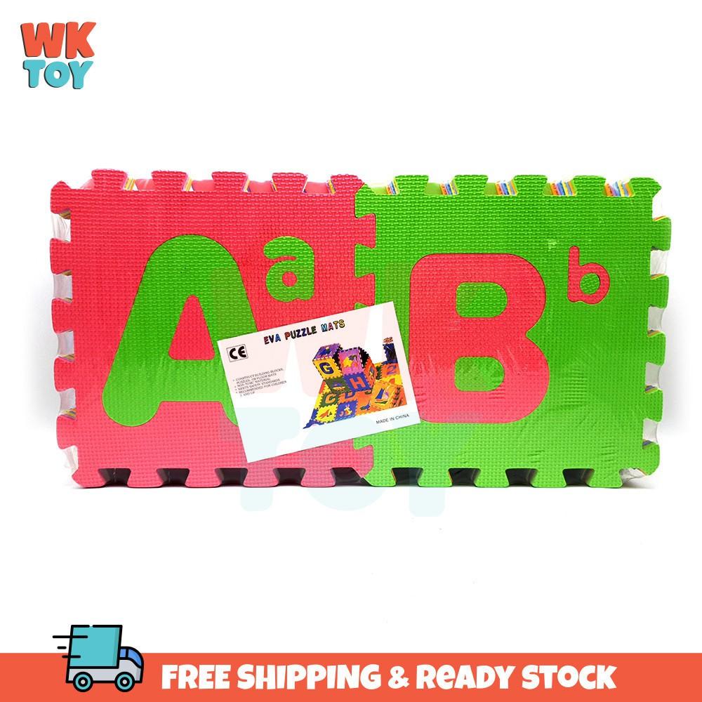 WKTOY 26 Pcs 30*30cm A-Z Kids Carpet Foam EVA Foam Mat Children Play Floor Mat