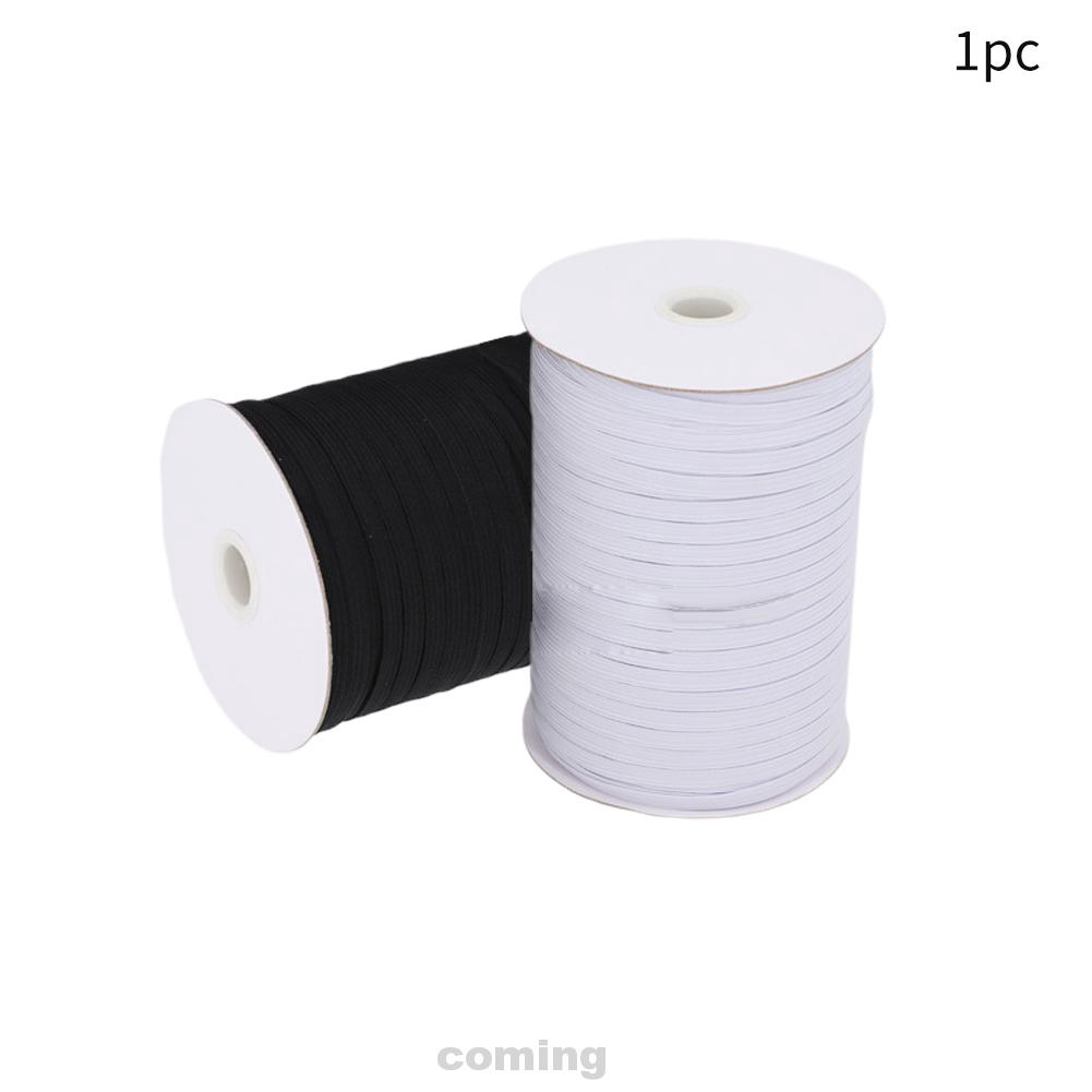3mm 5 Meter Flat Braided Corded Elastic Black for WAISTBANDS Cuff Sewing Dressmaking Tailoring 4 Cord