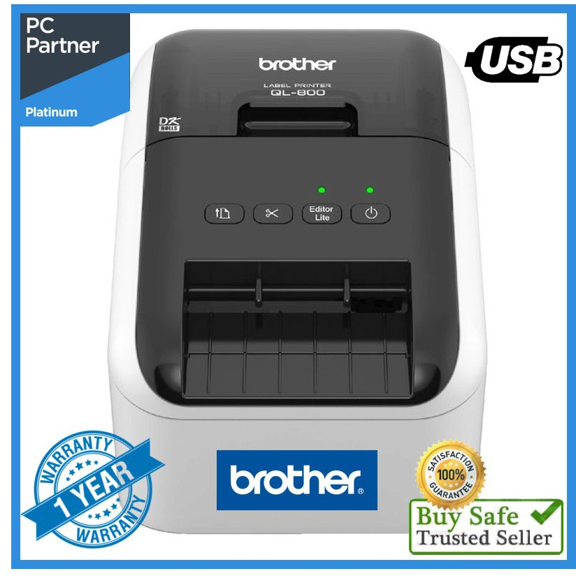 Work Home Free P/&P Brother QL-800 Thermal Label Printer New