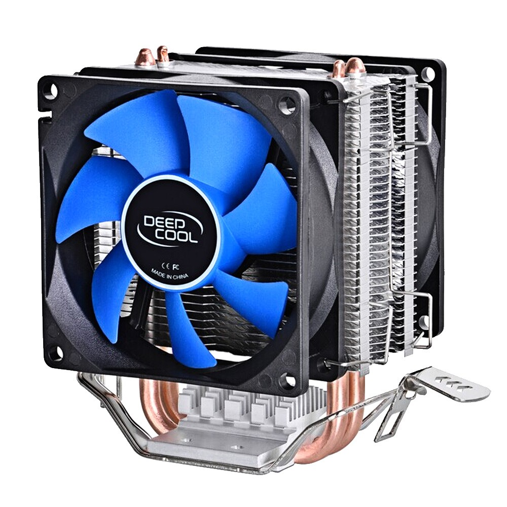 12V LED PC Computer CPU Aluminum Cooling Heatsink Fan Cooler Intel LGA775 AMD//2/&