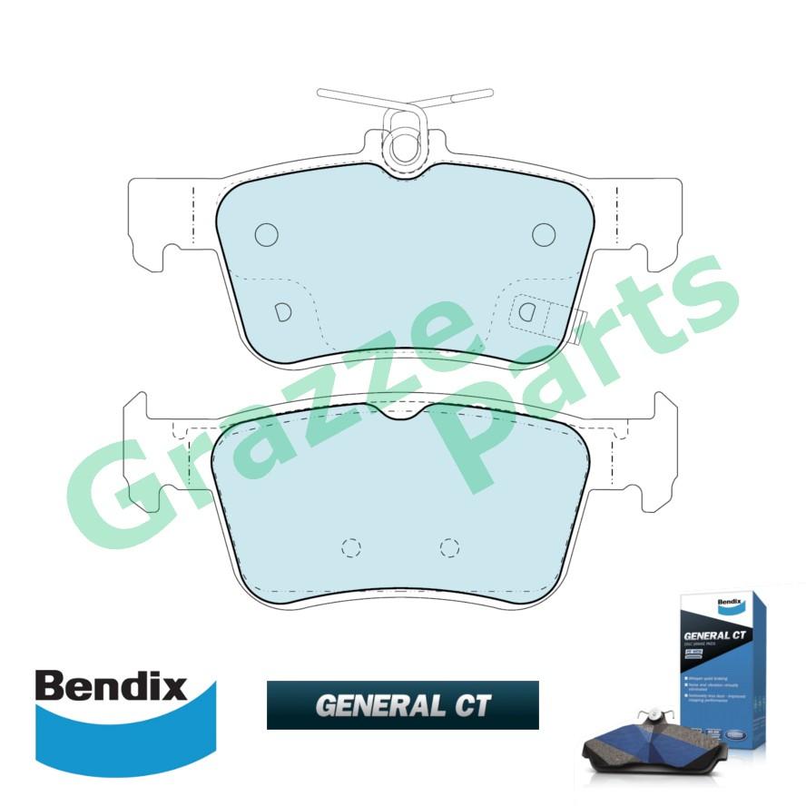 Bendix General CT Disc Brake Pad Rear for DB2429 - Honda Civic FC TEA