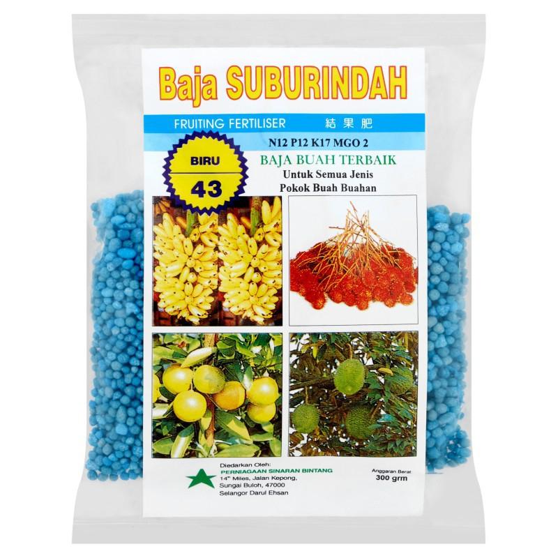 Baja Suburindah Fruiting Fertiliser 43 (300g)