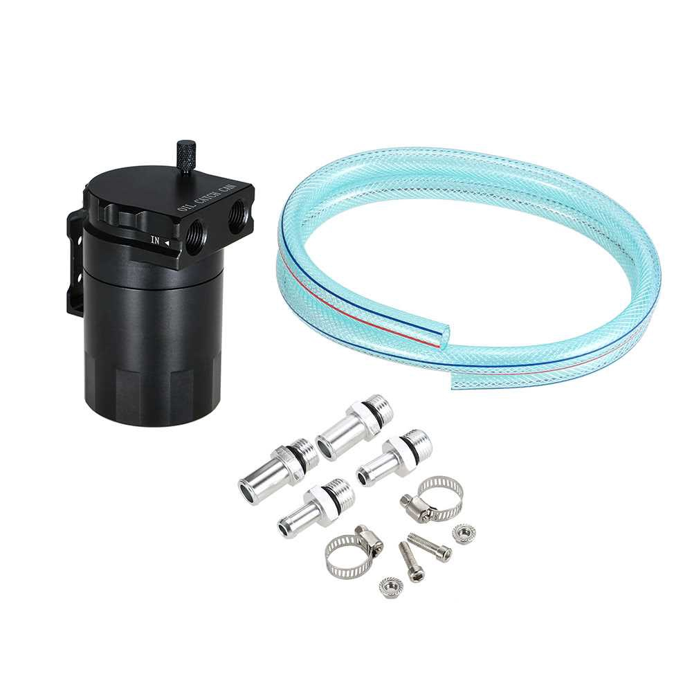 Universal Baffled Oil Catch Tank with 10mm / 14mm Fittings and Oil Dipstick