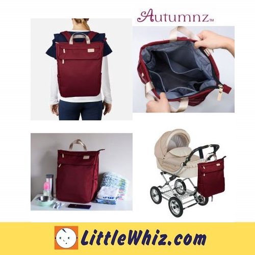 Autumnz: GORGEOUS Diaper Backpack - Maroon