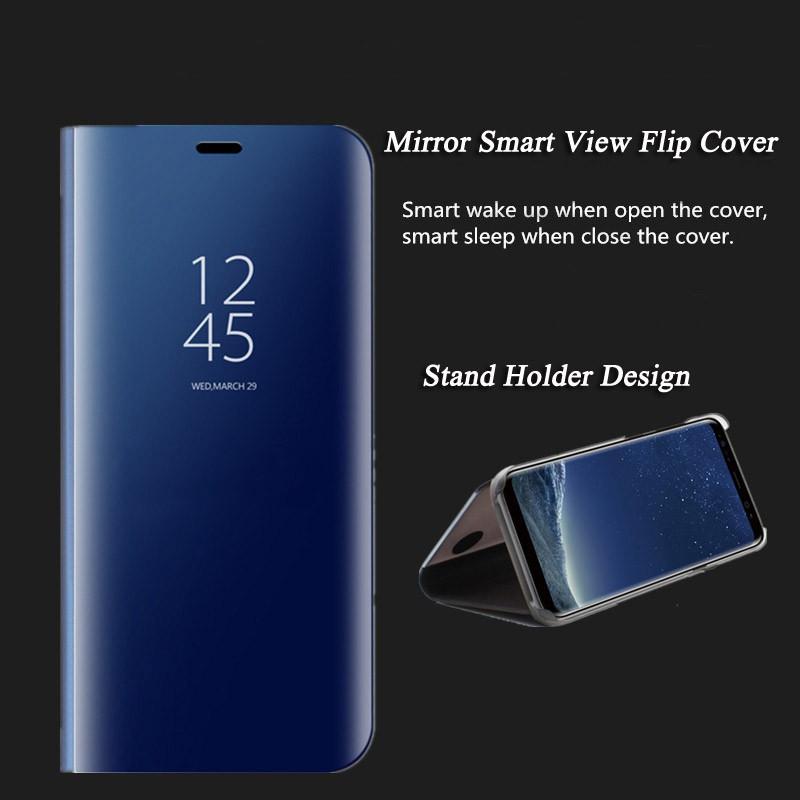 Flip phone case mirror cover for samsung galaxy A7(2018)/A8(2018)/A8 plus (2018) | Shopee Malaysia