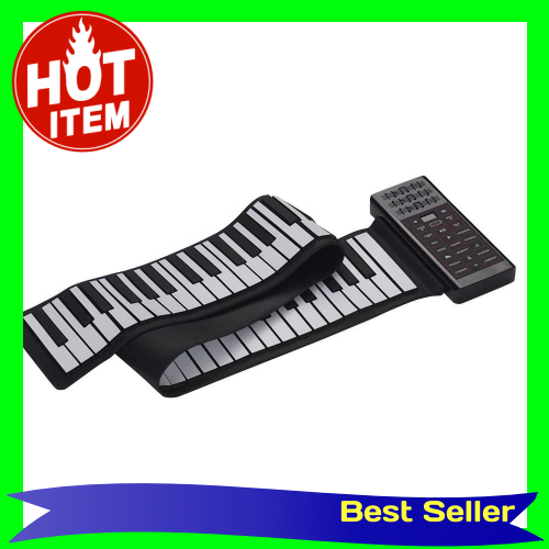 Portable Electric 88 Keys Hand Roll Up Piano Multifunction Digital Piano Keyboard Built-in Speaker Rechargeable Lithium