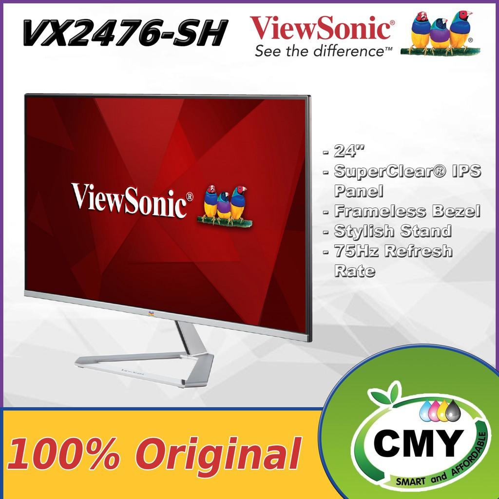 ViewSonic VX2476-SH 24 Inch IPS Monitor with Frameless Bezel VX2476 / VX2476SH