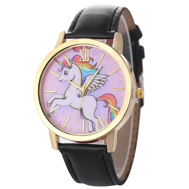Watches Unicorn Watch Childrens Watches Carton Rainbow Animal Kids Girls Leather Band Analog Alloy Quartz Watches Ladies Wristwatches Special Buy