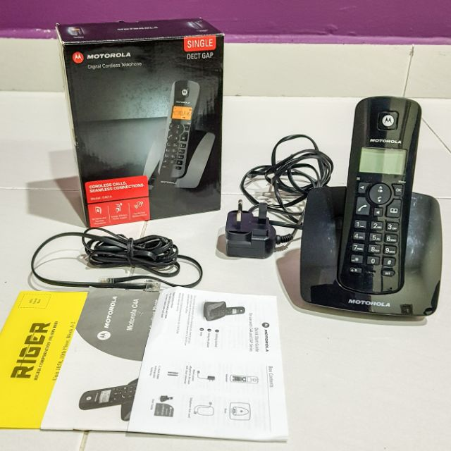 motorola digital cordless phone c401a shopee malaysia rh shopee com my Motorola Cordless Phone Battery Replacement Motorola 6.0 Digital Cordless Phone