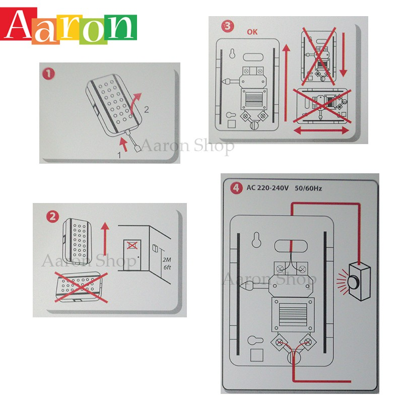 Wired Door Bell For Office Or Home Aaron Shop Shopee Malaysia