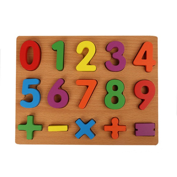 40 Slice Baby English Letters Numbers Paper Cartoon Puzzle Early Educational Toy