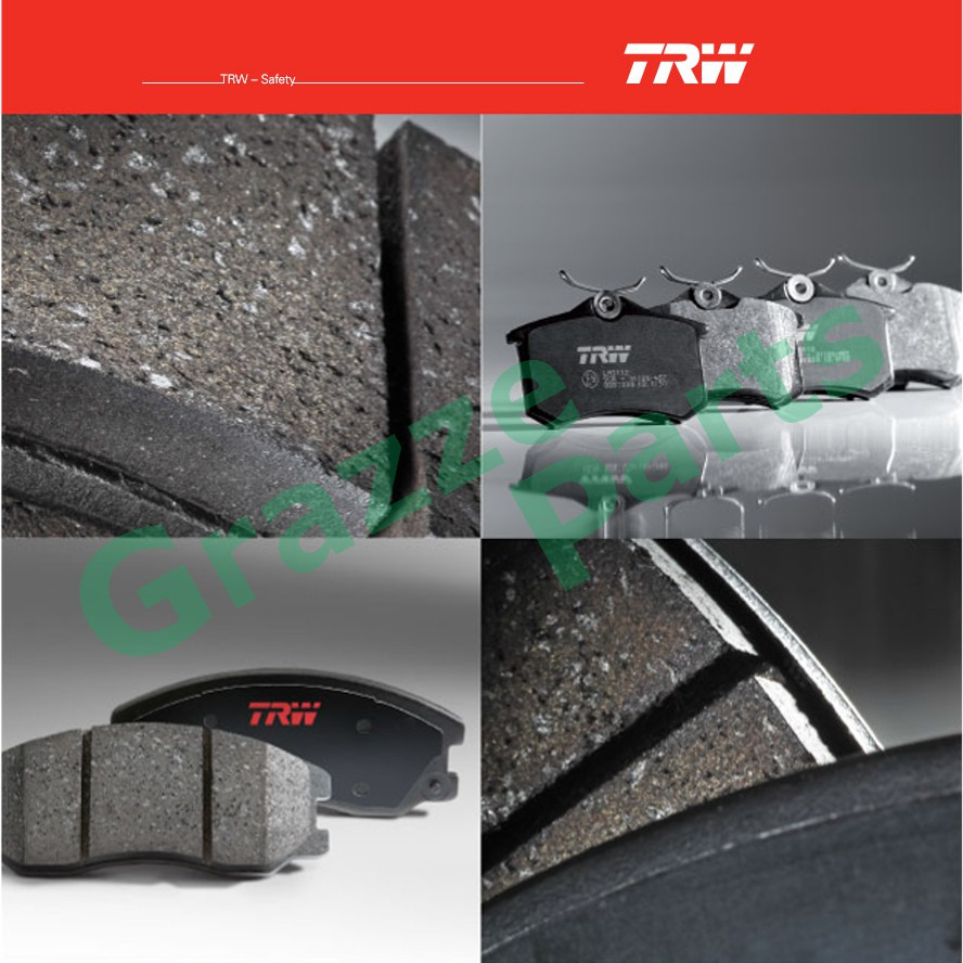 TRW Brake Pad Front for GDB3250 - Honda Civic 2006 - 2009 FN FK Type R