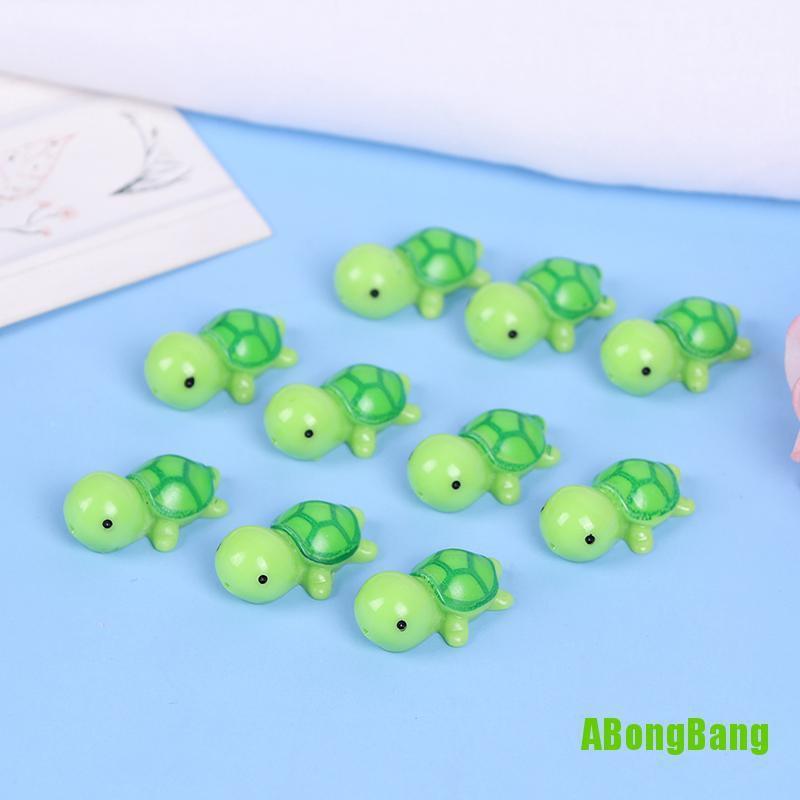 10pcs Miniature Dollhouse Bonsai Garden Pot Micro Landscape Sea Turtle Decor