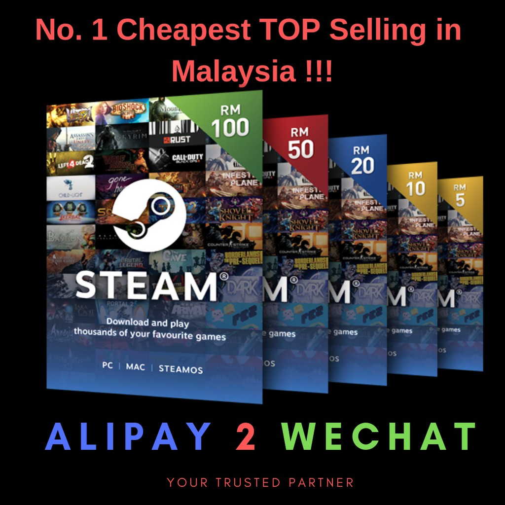 Steam Wallet Rm4 20 200offerlowest Guarantee Shopee Malaysia Usd 25