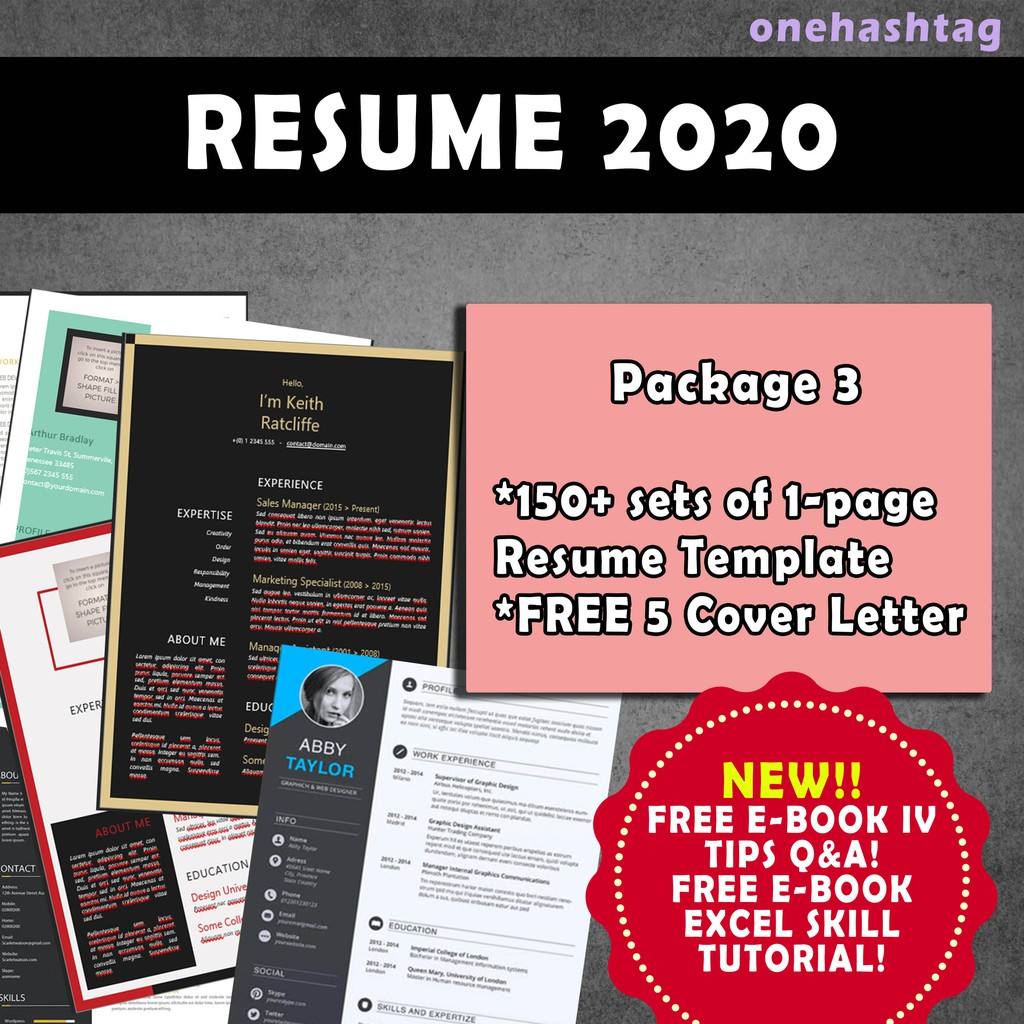 Cv Resume Template 2020 Design Terkini Shopee Malaysia