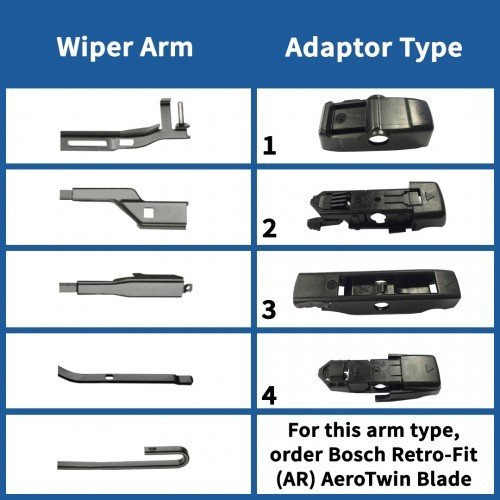 Fits Nissan 350Z Z33 Coupe Bosch Aerotwin Retro Front /& Rear Wiper Blades