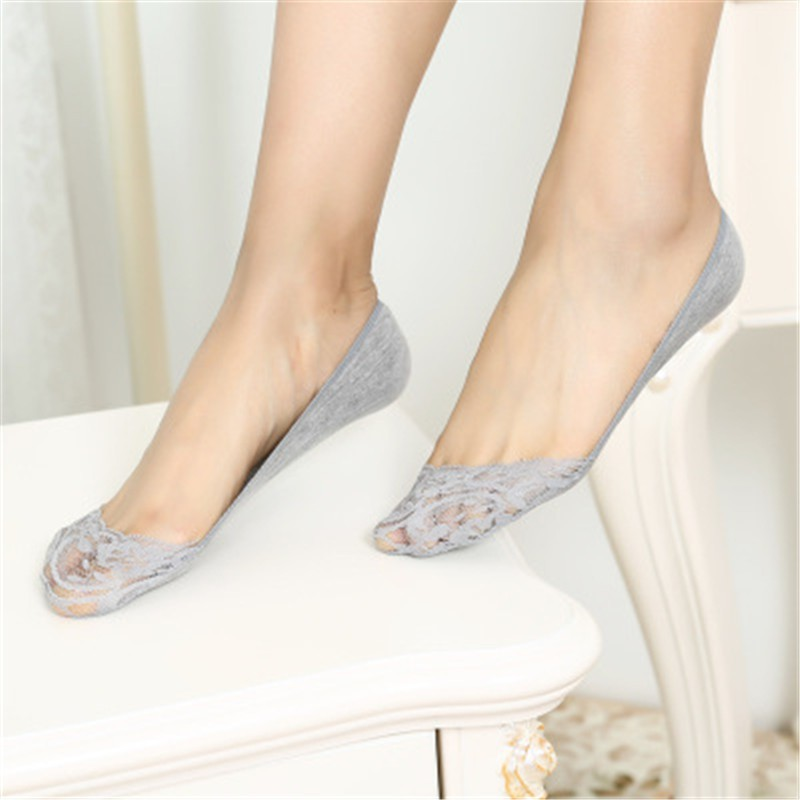 ec5b0c90ec9 ProductImage. ProductImage. 5Pairs Women slipper lace socks Invisible Skin Thin  boat