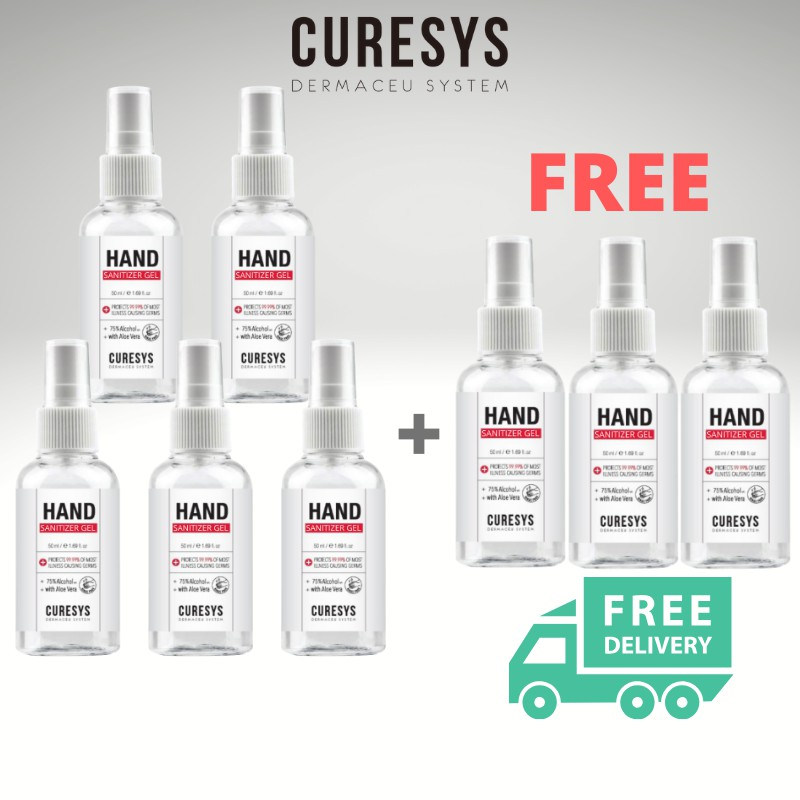 CURESYS - Hand Sanitizer 50ML (Buy 5 FREE 3)