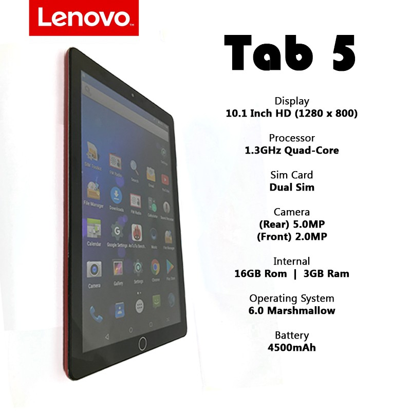 New !! Lenovo Tab 5 10 1