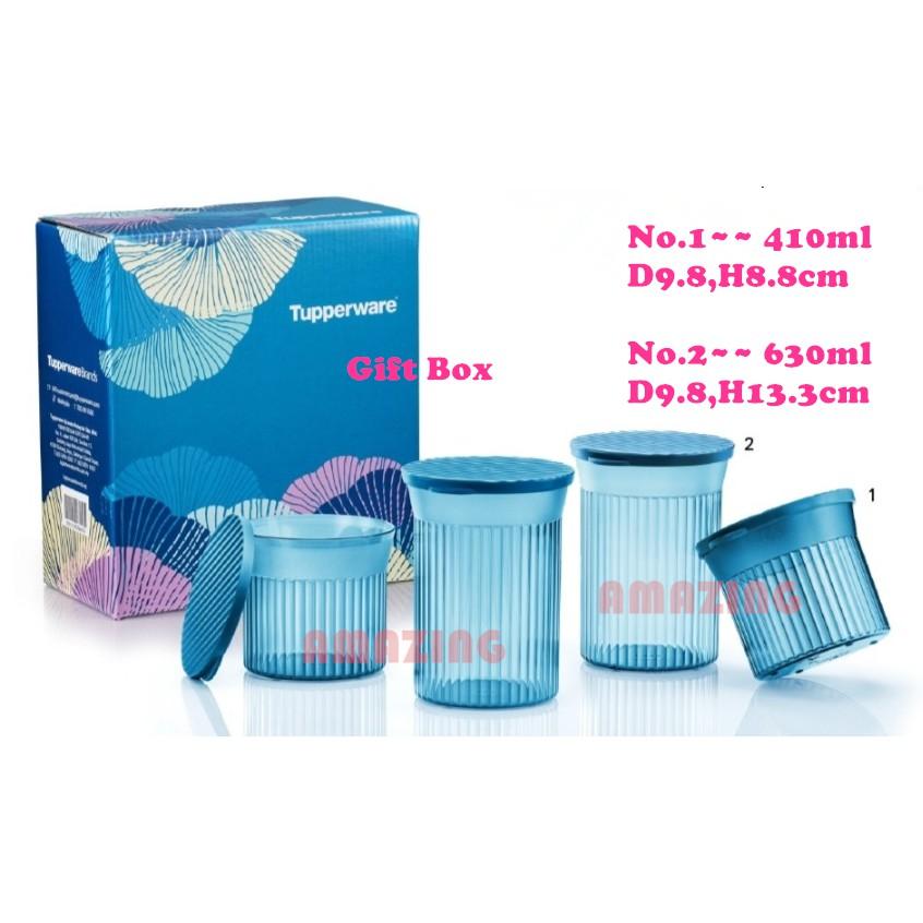 Tupperware Elegant Square Set (4) with Gift Box/Elegant Round Set (4) with Gift Box