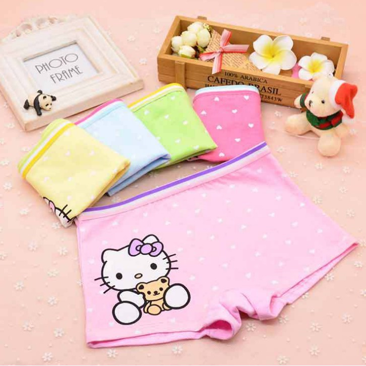 a193574b1 ProductImage. ProductImage. NewYear 3pcs Baby Kids Girl Hello Kitty Cartoon  Boxer Panties Children Underwear