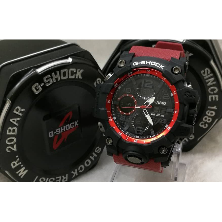 G Shock Black Red