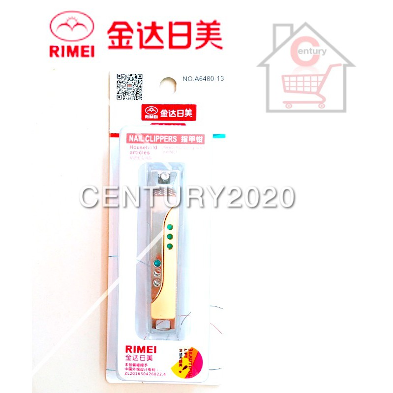 RIMEI Nail Clipper Manicure Care Nail Cutter High Grade Stainless Steel Nail Cutter A6480-13