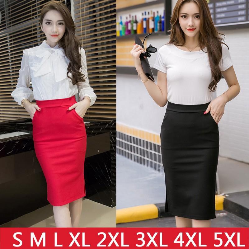 b23cb92156134a Korean Style Black Package Hip Skirts Gap Irregular Hem1 Pencil Micro Mini  Skirt