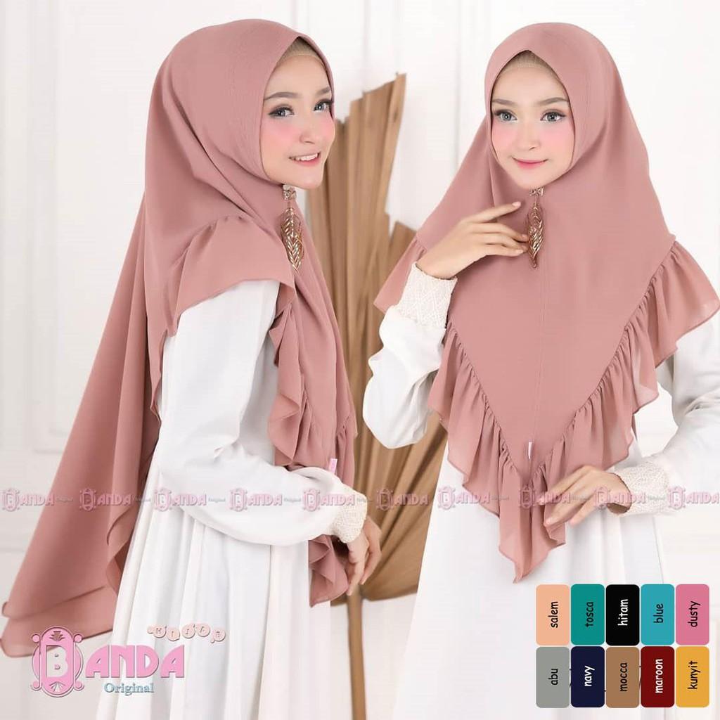 Mufida Jilbab Khimar Kerudung Syari Tutorial Hijab Khimar Pet Khimar Mini Shopee Malaysia