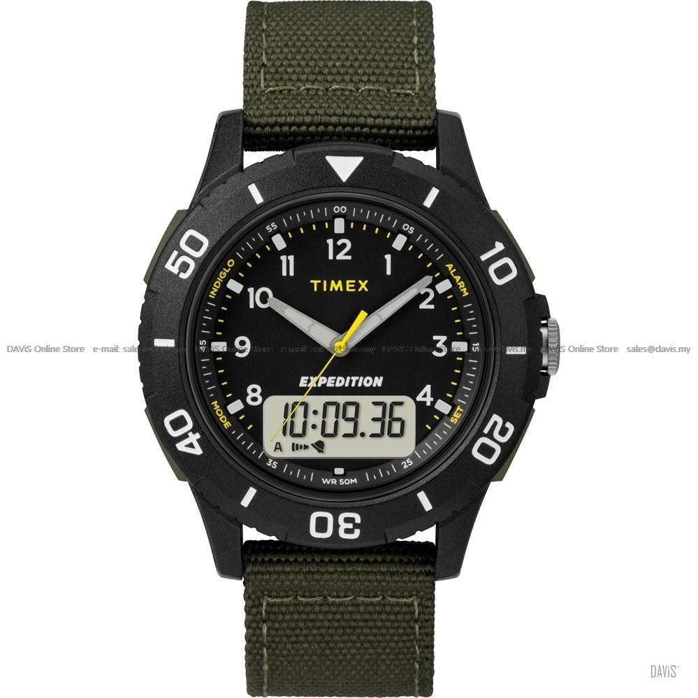 TIMEX TW4B16600 (M) Expedition Katmai Combo Ana-Digi Fabric Green *Original