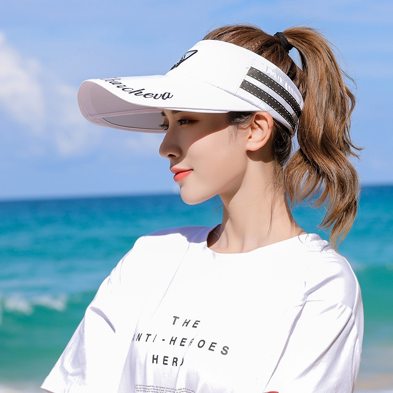 2aa79e8a2 Women's Summer Sunshade Visor Cap Outdoor Cycling UV Proof Travel Beach  Sunhat