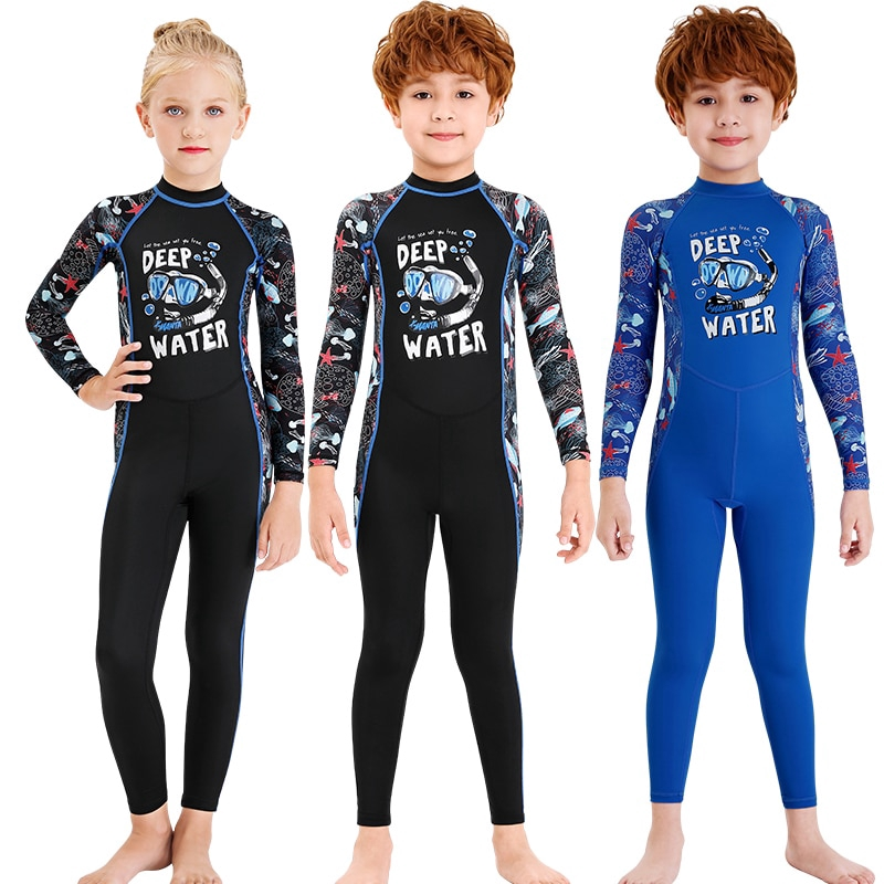 Baby Boys Girl One-Pieces Rash Guard Cartoon Dinosaur Swimsuit Sun Protection Bathing Suit