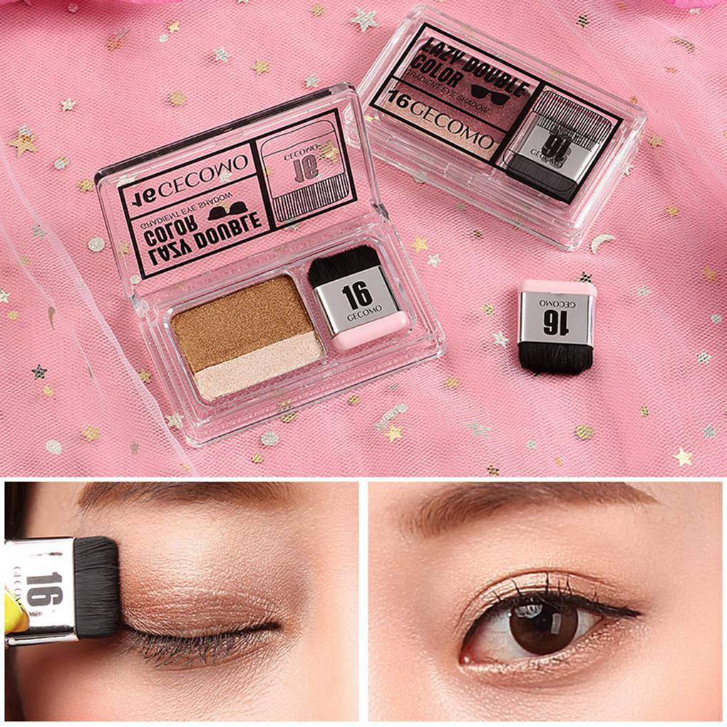 【hxbgxb】Gradient Colors Single Package Metallic Eye Shadow Makeup Palette  Shimmer Pigmen