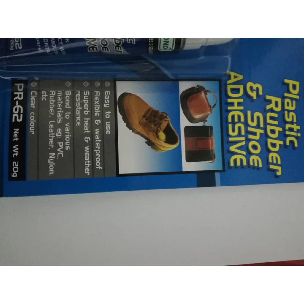 Wessbond Plastic Rubber & Shoe Adhesive Glue 20gm 1 card