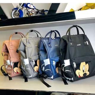 Japan Anello Women Student Linen Backpack Cover Bag Rucksack Lady Traveling Bag