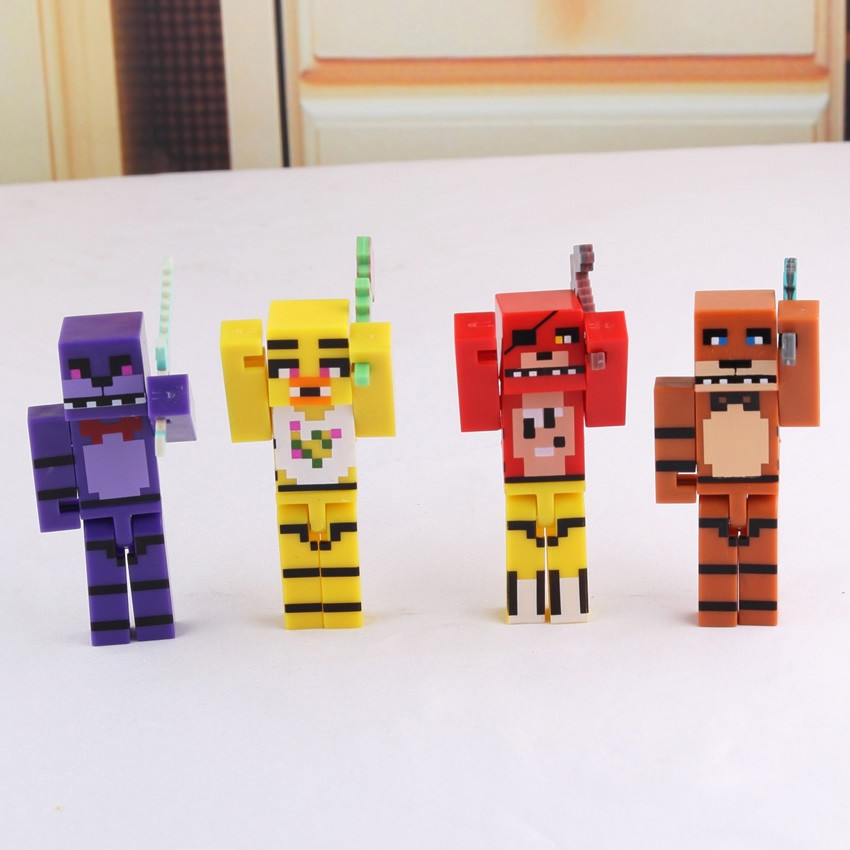 🔥READY STOCK🔥Kids Toys 4pcs/set Minecraft Five Nights Action Figures