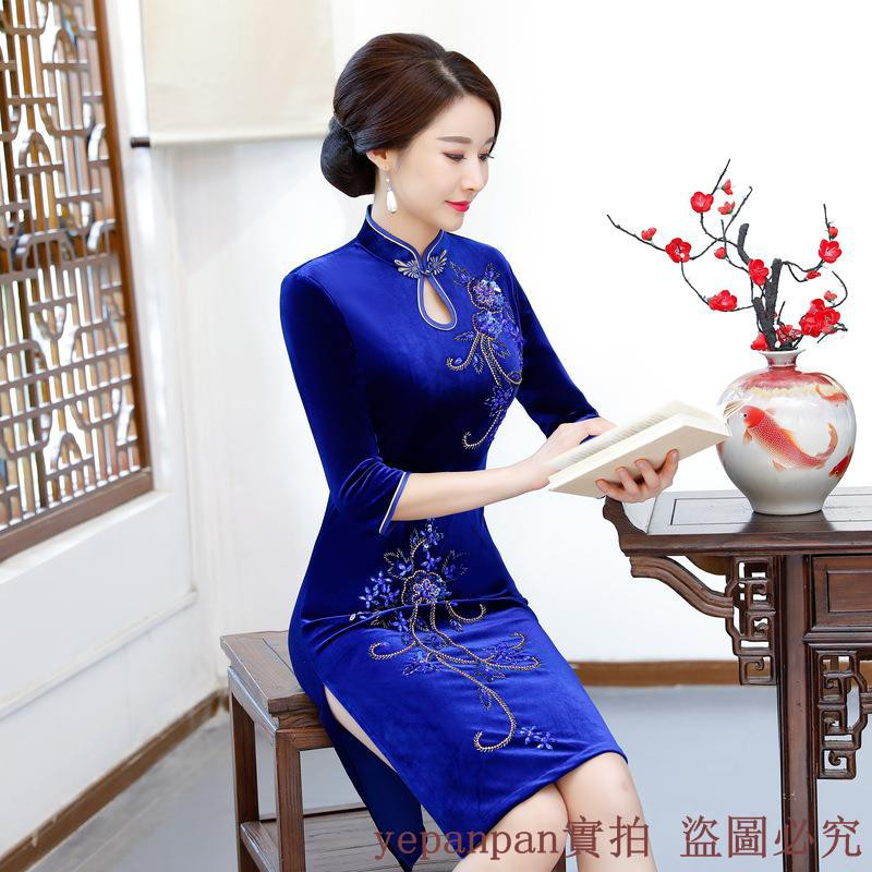 gold cheongsam - Traditional Wear Prices and Promotions - Women s Clothing  Jan 2019  5db60bd4d852